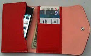 Red-Smart-Phone-iPhone-iPod-Wallet-Wristlet-Clutch-FAST-SHIP-NEW