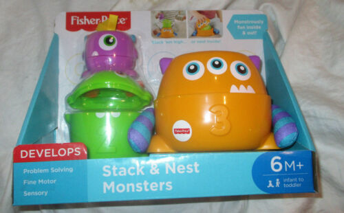 Fisher Price Stack and Nest Monsters NEW IN BOX!!