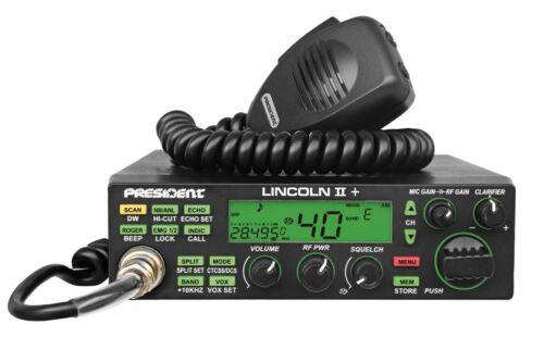 President Lincoln II+ V3 10 Meter Amateur Ham Mobile Radio AM/FM/SSB/LSB/USB/CW
