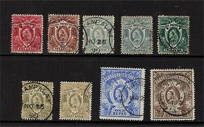 Uganda QV 1898-1902 complete set Used
