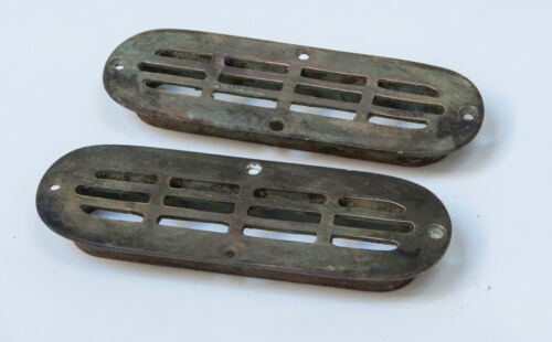 Antique Brass / Bronze Marine Drainage Scupper Venting Grid Plates Wooden Boat