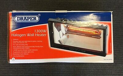 Draper 1300W Garden Wall Heater - 88986 - Brand New In Box - Keep Warm At Night