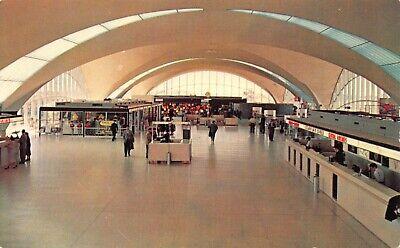 St. Louis Municipal Airport Terminal Building Interior Missouri Vintage Postcard Municipal Airport Terminal