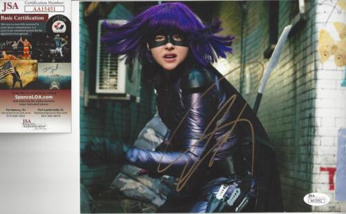 Superhero Choloe grace Moretz  autographed 8x10 photo JSA Certified