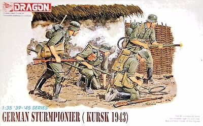 Dragon 6024: 1/35 WWII German Sturmpionier Kursk '43 (4 Figures)