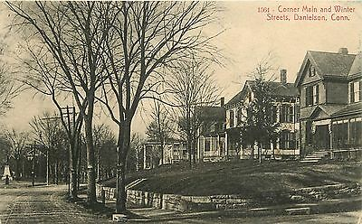 Connecticut  Ct  Danielson  Corner Main   Winter Streets 1913 Postcard