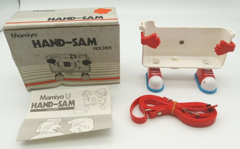 Vintage Mamiya U Hand-Sam Camera Holder with Strap in Original Box