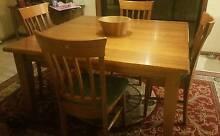 1.4m square Tasmanian Oak dining table Melton West Melton Area Preview