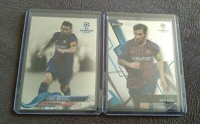 2017 TOPPS CHAMPIONS LEAGUE Chrome Lionel Messi and Finest Base Barcelona  for sale  Shipping to Nigeria