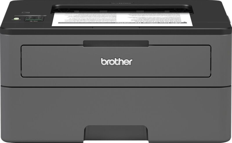Brother - HL-L2370DW Wireless Black-and-White Laser Printer - Gray