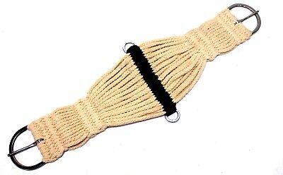 "32"" Tan Blended Cord 27 String Western Roper Girth Horse Tack"