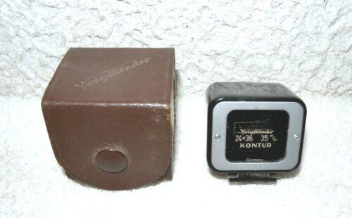 Voigtlander Kontur 24x36 35mm Shoe Mounted Viewfinder & Original Case