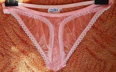 Adult Gummi (Adult Baby,Inkontinenz,PVC String Slip,Gr.L .rosa Lack Pants Gummihose)