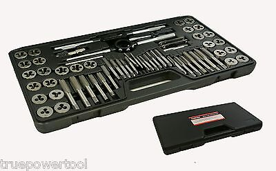 60 Piece Alloy Steel SAE / Metric Tap And Die Set