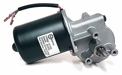 Makermotor 10mm 2-flat Shaft Reversible Electric Gear Motor 12v 50 Rpm Pn01007