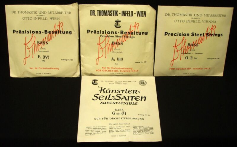 NEW OLD STOCK -Thomastik Acoustic Bass Strings LOT - Make an Offer!!
