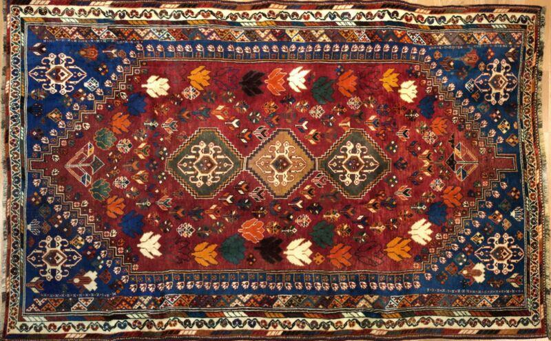 Perfect Persian - 1940s Antique Tribal Carpet - Nomadic Rug - 5.6 X 8.7 Ft.