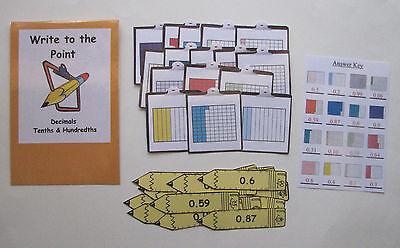 Teacher Made Math Center Educational Resource Game Decimals Tenths   Hundredths