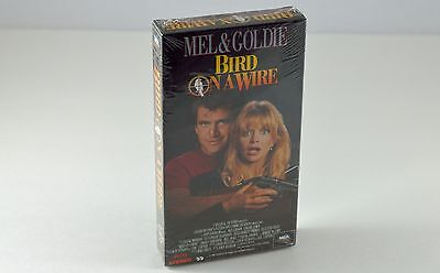 Vintage Bird On A Wire VHS Video Movie Mel Gibson Goldie Hawn 1990 Factory Seal
