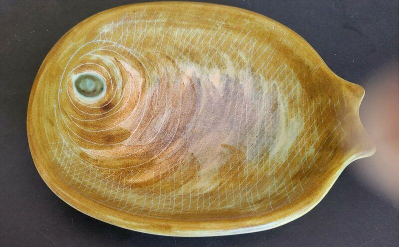 Guillot France Pottery Fish Shaped Dish