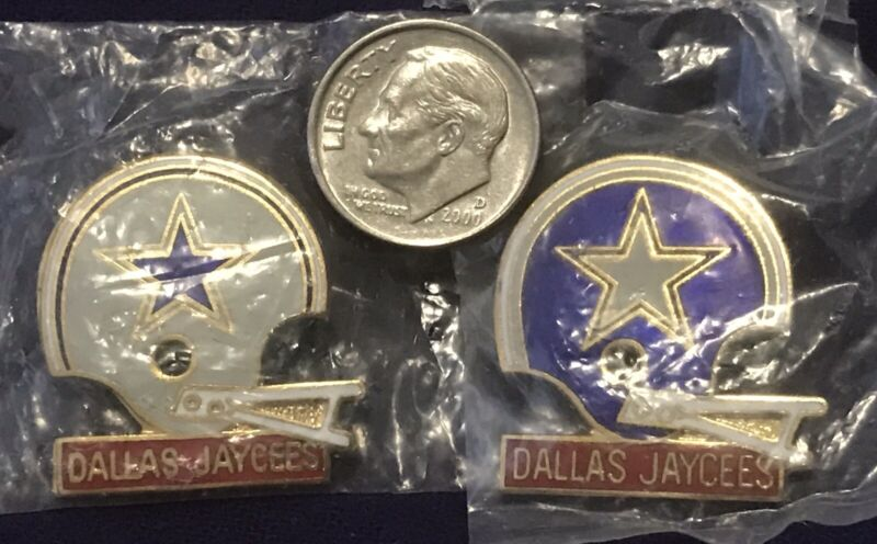 Texas Jaycees Dallas Chapter Pins With Star Logo
