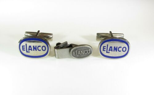 Elanco Animal Health Products Cufflinks Silver Color with Blue Lettering