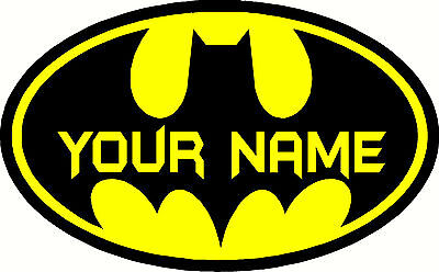 Batman Custom Personalized Name Home Wall Art Stickers Kid Room Decor Mural #2 (Custom Decorations)