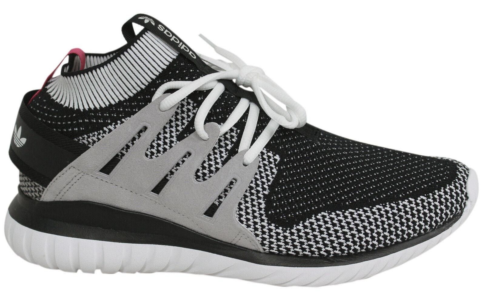 Adidas Tubular Nova PK Lace Up White Black Grey Sock Mens Trainers S74918 M9