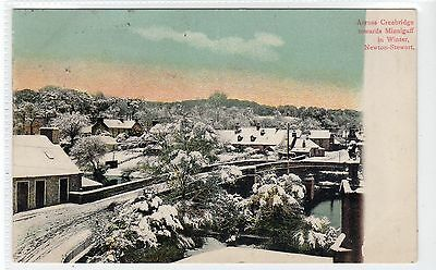 ACROSS CREEBRIDGE TO MINNIGAFF, NEWTON STEWART: Wigtownshire postcard (C21236)