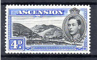 Ascension KGVI 4d P13  SG42cd  MLH 1944 [A6803]