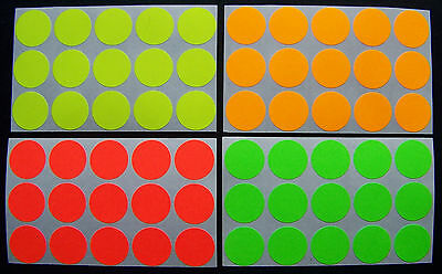 500 Self Adhesive Color Florescent Labels Dots Price Tags Tabs Stickers 34