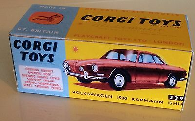 Repro Box Corgi Nr.239 VW 1500 Karmann Ghia alt