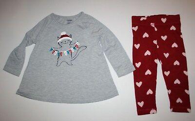 NEW Gymboree Girl Holiday Pajamas Gymmies PJs 3 5 6 7 8 10 12 14 Meowy Catsmas - Girl Holiday Pajamas