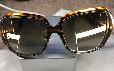 Gucci Horsebit Sunglasses Bamboo Gold Brown Italy Oversized With Case.