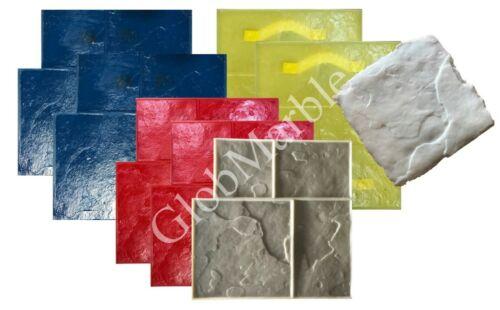 Concrete Stamps 8 Pc Set. Ashlar Slate Stamps. Stamped Concrete Mats SM 3003