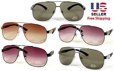 AVIATOR PILOT COP STYLE HIGH QUALITY METAL FRAME SUNGLASSES SHADES MANY COLORS