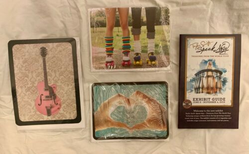 THREE (3) NEW TAYLOR SWIFT American Greetings Cards Plus 12-Page Exhibit Guide