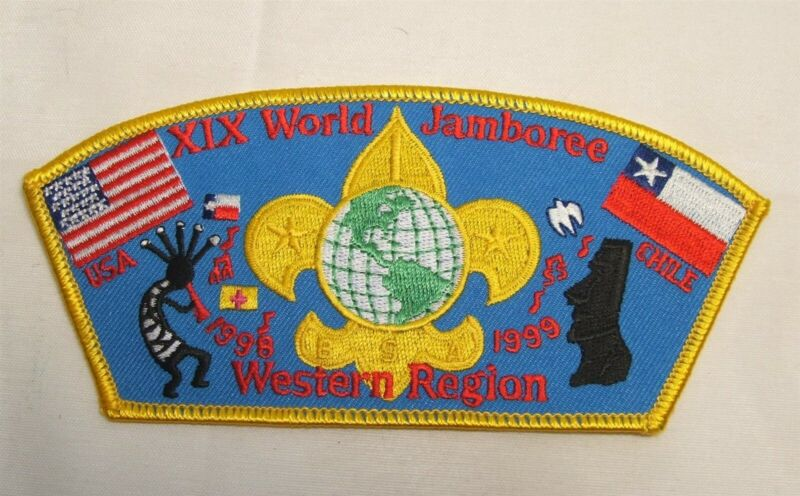 BSA 1998 XIX World Jamboree Western Region PATCH USA & CHILE Boy Scouts NEW!