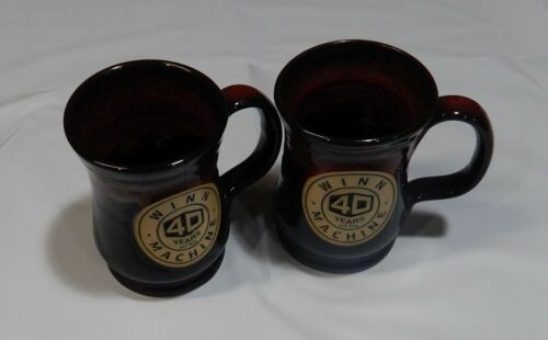 2 Deneen Pottery Hand Thrown Pottery Mugs WINN MACHINE 2019