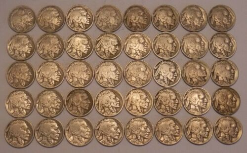 Roll of FULL DATE Buffalo Nickels--40 Coins in All!