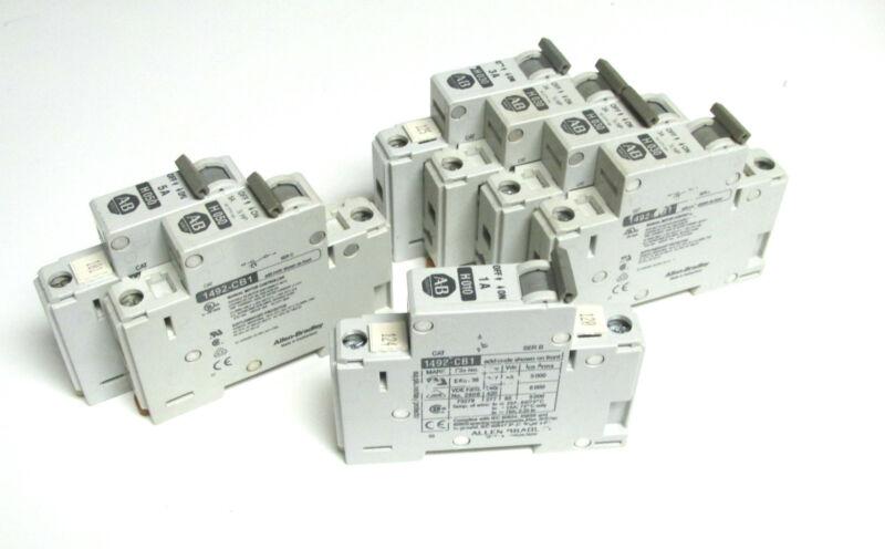 * Allen-Bradley 3A, 5A & 1A Circuit Breakers Cat# 1492-CB1 (Qty of 7) .. WO-44B