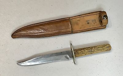 Vintage John Newton Co Frog Logo Sheffield England Hunting Bowie Dagger Knife