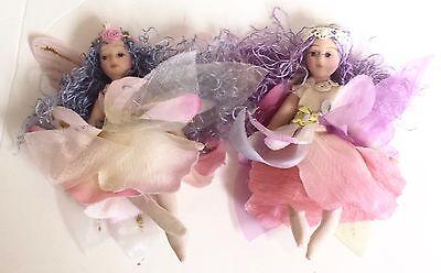 Lot of 2 Adorable Porcelain Fairy Dolls