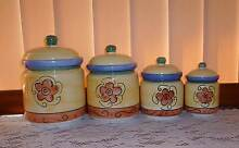 Set of 4 matching kitchen canisters Camden Park West Torrens Area Preview
