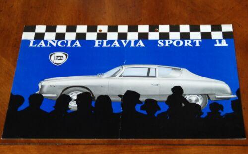 Lancia Flavia Sport Zagato (Tipo 815.500) leaflet Prospekt, 1963 (German text)