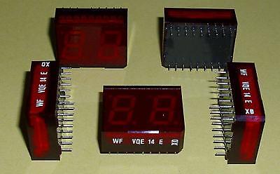 2 Stück RFT VQE14E 2 stellige 7Segment -LED Display's Lichtschachttechnik rot