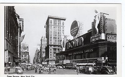 TIMES SQUARE: New York City postcard geat art deco store front (C1865).