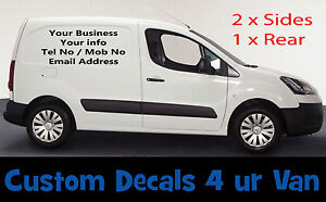 SMALL CUSTOM VAN VEHICLE GRAPHICS SIGN WRITING KIT DECALS LETTERING.