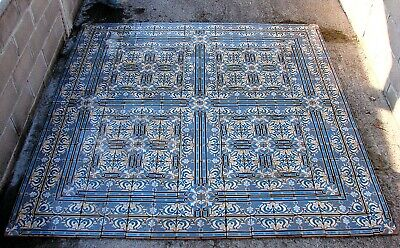 """Made in Italy 46 sq ft available Vintage 1960s 6/"""" x 6/"""" Red Floral Floor Tile"""
