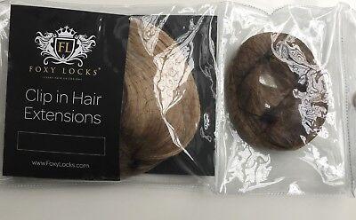 FOXY LOCKS GENUINE SEAMLESS HAIR EXTENSIONS - LIGHT ASH BROWN/DARK ASH BLONDE